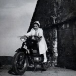 "Norma on the ""alpino"", Nello's motorcycle"