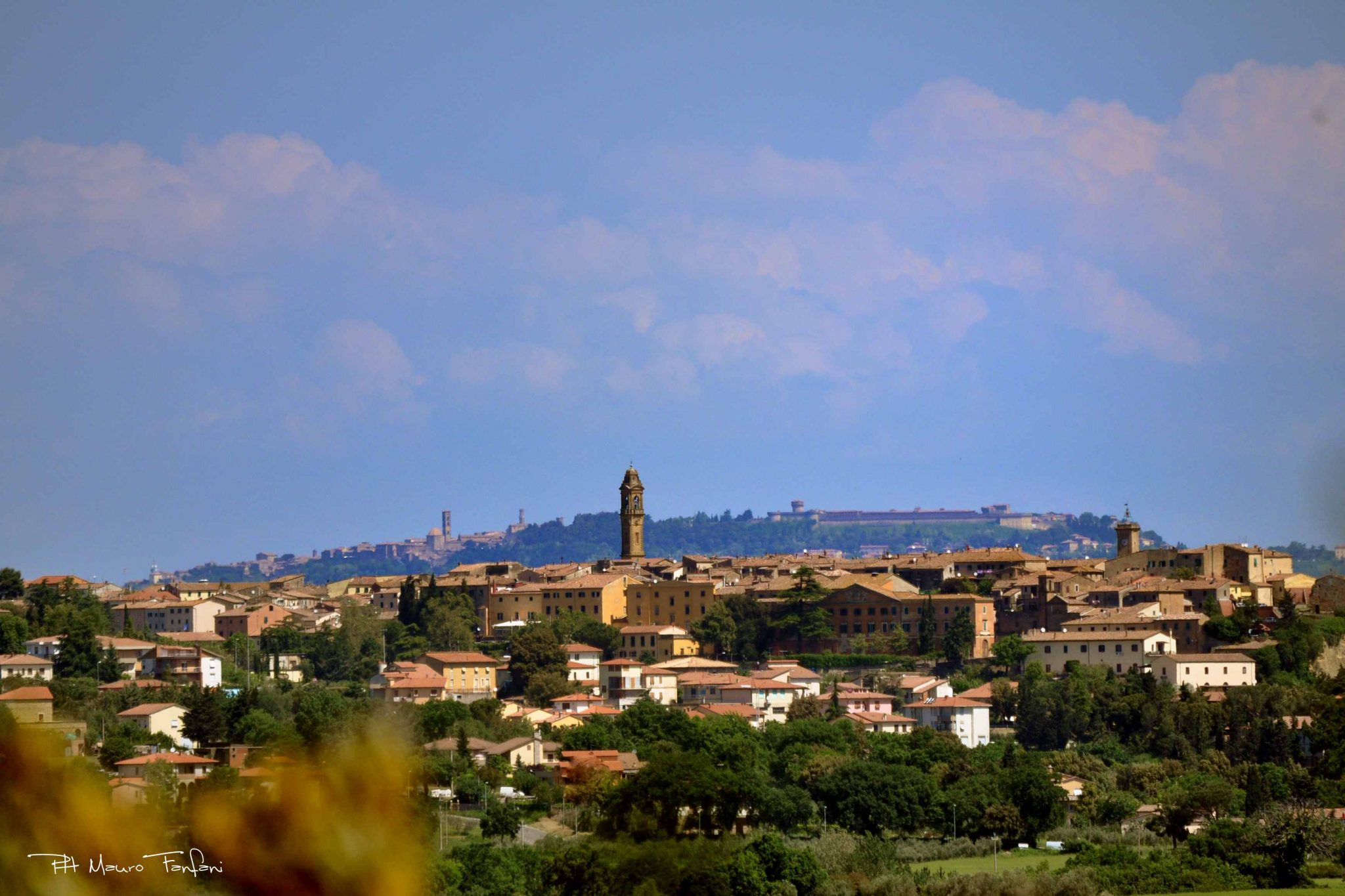 Pomarance (Volterra in the background)